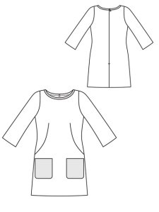 Burda Shift Dress Line Drawing